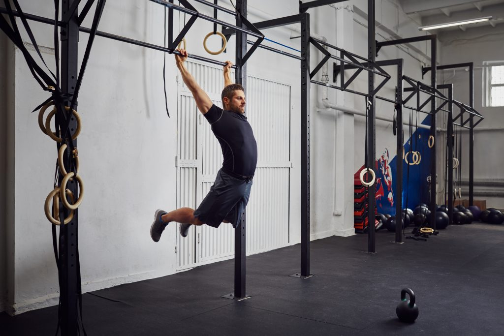 What is the benefit of using kipping pull ups garage fit