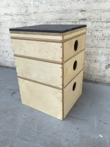 stackable wood plyo box