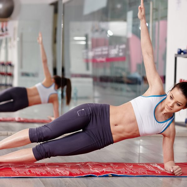Woman working abs