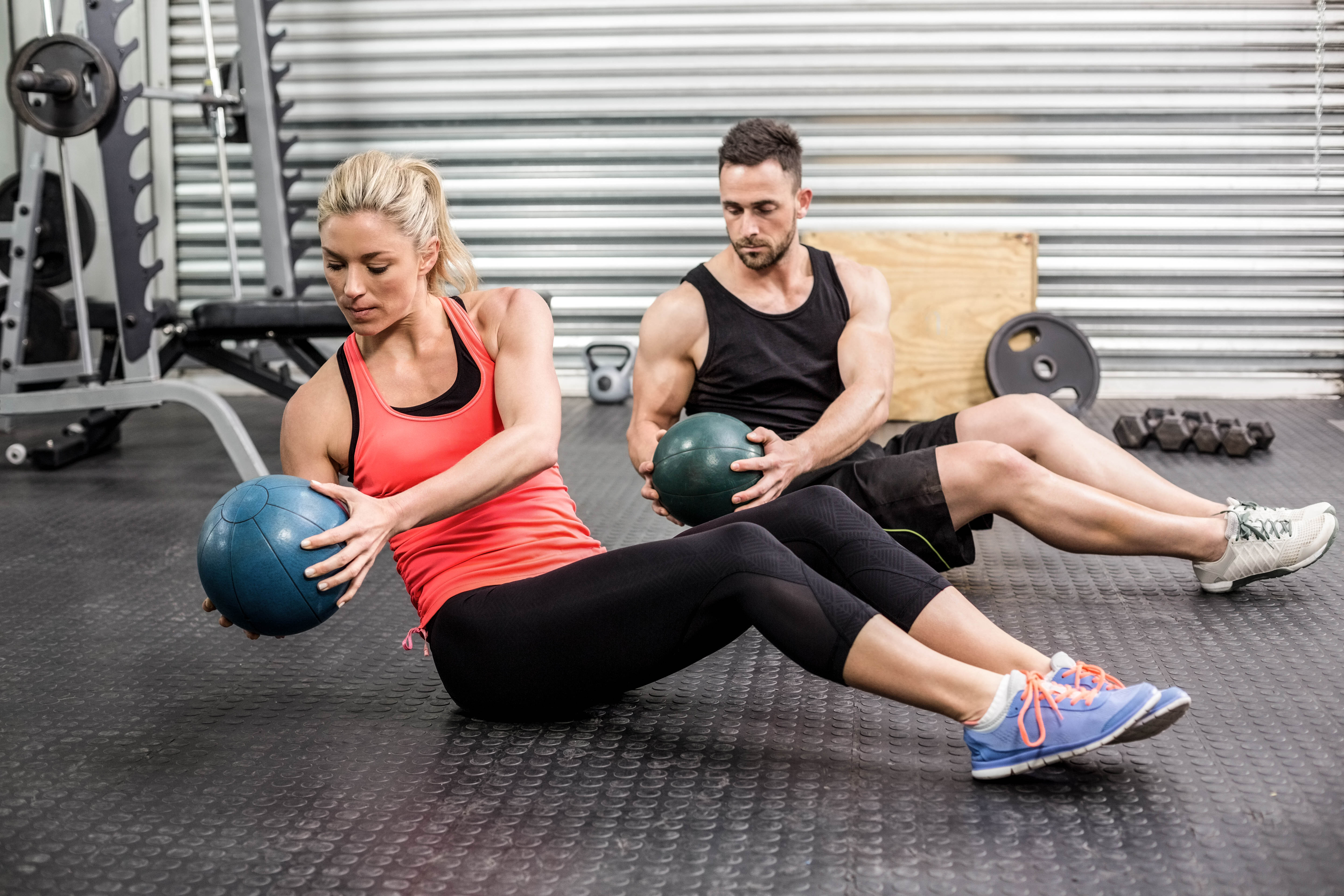 Medicine ball workout for abs garage fit